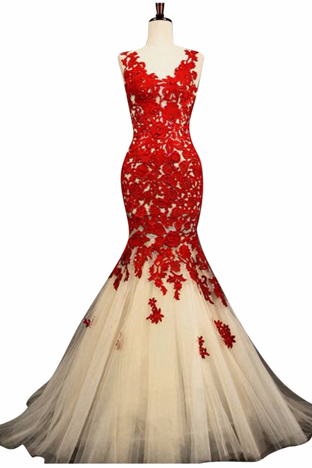 Red and Champagne Wedding Dress – fashion dresses