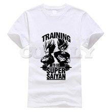 2019 new T-shirt Short sleeve Dragon Ball Japan Anime Cartoon Black And White Summer dress men tee Funny t shirt custom made