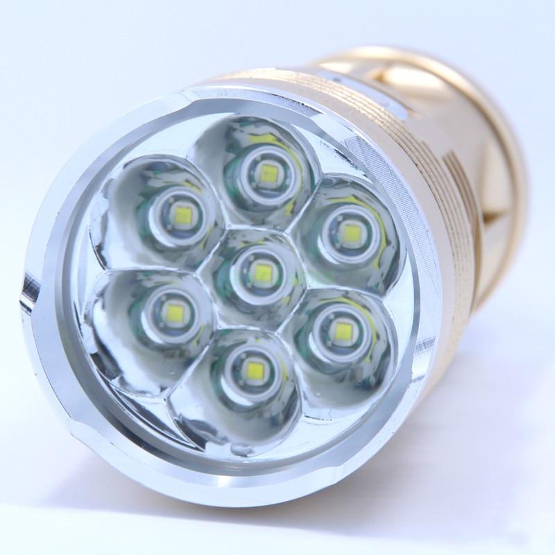 2014 New Skyray Led Flashlight 10000 Lumens 7x CREE XM-L T6 LED Flashlight Water-Resistant & Super Bright Torch Flash light 10000 lumens super bright led flashlight torch aluminum waterproof 7 x cree xml t6 led flash light