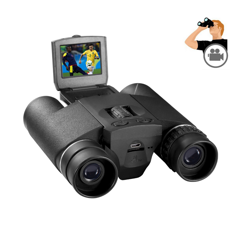 2 in 1 HD 720P Digital Camera DVR with Binocular telescope DV Cam with LCD DB618