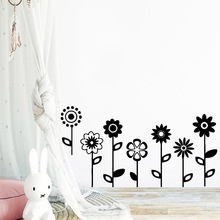 Pretty flowers Self Adhesive Vinyl Wallpaper For Baby Kids Rooms Decor Wall Decal Home