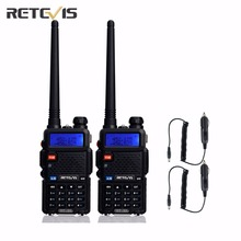 2X Retevis RT-5R Walkie Talkie+Car Charge Cable 5W Dual Band UHF/VHF Portable Two Way Radio FM Two Way Radio Transceiver Moscow