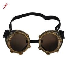 Feitong Diseño Retro gafas de Sol Redondas Steampunk Gafas de Soldadura Gafas Punky Cosplay Gafas Femeninas gafas de sol mujer 2017 Nuevo