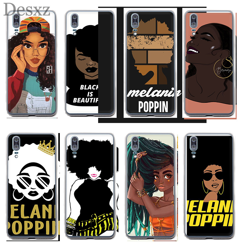 Selfless Case For Melanin Poppin Girl For Huawei P8 P9 P10 P20 Pro P Smart Lite Mini Plus 2017 2015 2016 Phone Cover Clothing, Shoes & Accessories