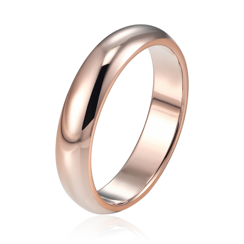 Best Selling High Quality Titanium Steel Highly Polished Ring Silver/Rose Gold Color Shiny Succinct Womens Girls Ring Jewelry