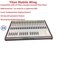 Flightcase Pack 2XLot Touch Wing Consoles Professional Stage Lights Mobile Wing Avolites Controllers DJ Disco Shows