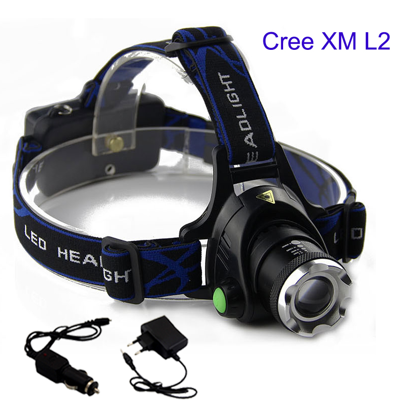 high lumens  xm L2 led headlamp headlight head Light torch lampe frontale flashlight with AC charger for outdoor fishinghigh lumens  xm L2 led headlamp headlight head Light torch lampe frontale flashlight with AC charger for outdoor fishing