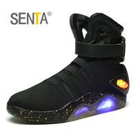 SENTA Future soldiers Men basketball shoes Limited Edition Led Luminous Light Up Hight Top boots USB Charge Walking shoes 45 46