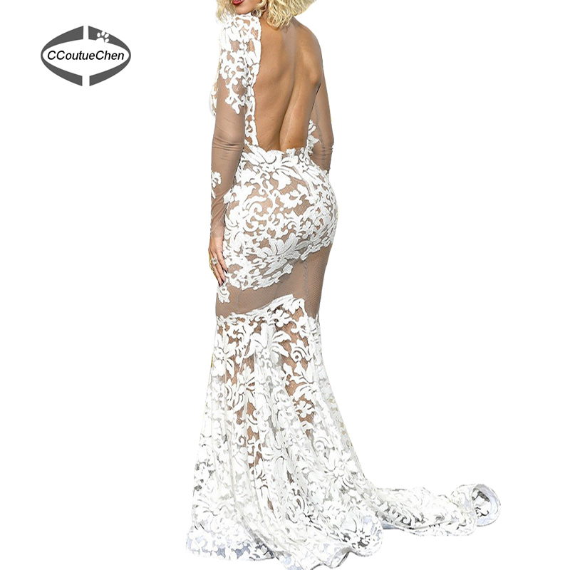 Mermaid Party Kleider PDC 002 Beyonce Durchsichtig Spitze Abendkleid ...