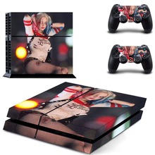 PS4 Console Skin Decal Sticker Harley Quinn + 2 Controller Skins Set