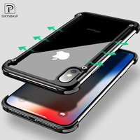 OATSBASF Airbag Metal Phone Case For IPhone X 6 7 8 Plus Cover Case For Samsung