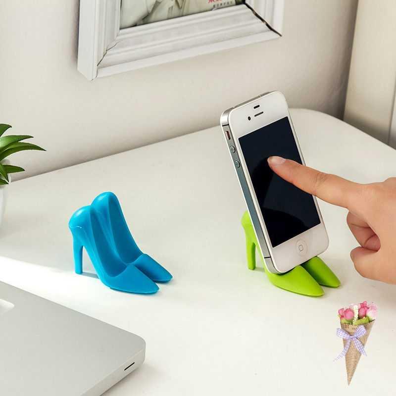 Telefono cellulare utilizzato 3D Supporto Scarpe Tacco Modello supporto Universale Del Basamento Del Supporto Del Telefono Per Andrews 1 pair