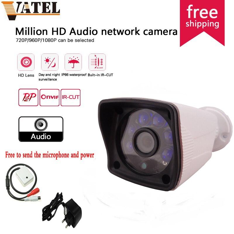 ФОТО 720P/960P/1080P CCTV Audio System H.264 Bullet IP Camera SONY IMX322 surveillance camera P2P Remote view ONVIF Network webcam