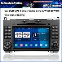 Android 4.4 Capacitieve Scherm 1.6G Auto DVD GPS Voor Mercedes Benz A W169 B W245 Vito Viano Sprinter