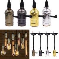 ¡Promoción de ventas! Casquillo de bombilla LED para lámpara Edison de AC85V-240V E27 + cable de 115cm para bombilla incandescente de filamento Retro