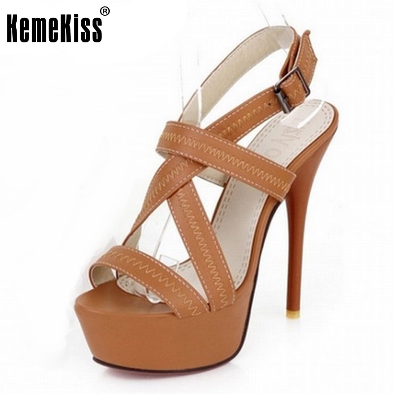 ФОТО 34-43 Sexy Cross tie Open toe Gladiator Sandals 2016 Red Bottoms High Heels Platform Shoes woman sandals summer Woman Shoes