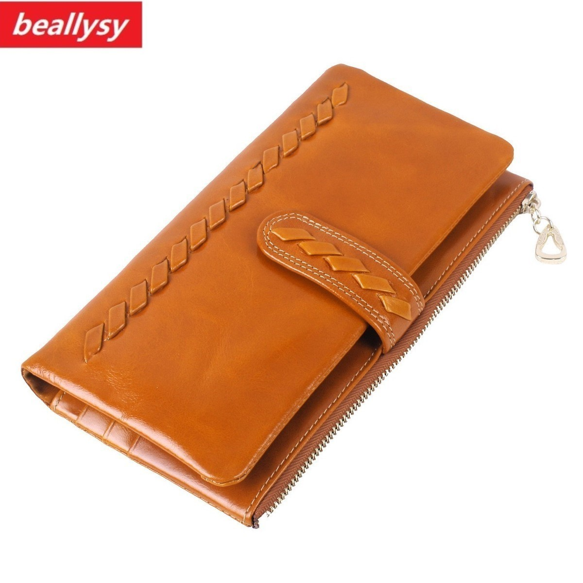 High Quality Women Long Wallets Knitting Standard Hasp Money Purse Fashion Style Card Holder Genuine Leather Lady Day Clutch Bag pacgoth fashion hasp short clutch wallets women money bag money purse 2 folds bag wallets