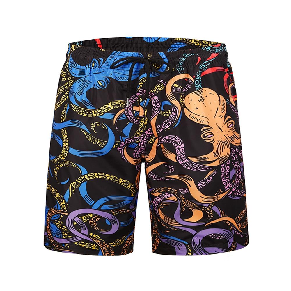 Mr.1991inc 2019 Men Swimming Shorts Swimwear Board Shorts Summer Quick Dry Beach Homme Bermuda Short Printed Cartoon Octopus Men's Clothing