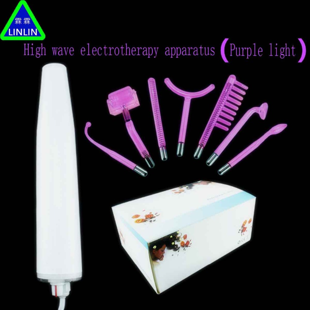 LINLIN 7 pieces of high wave electrotherapy apparatus with purple light Electrotherapy combing and removing pox