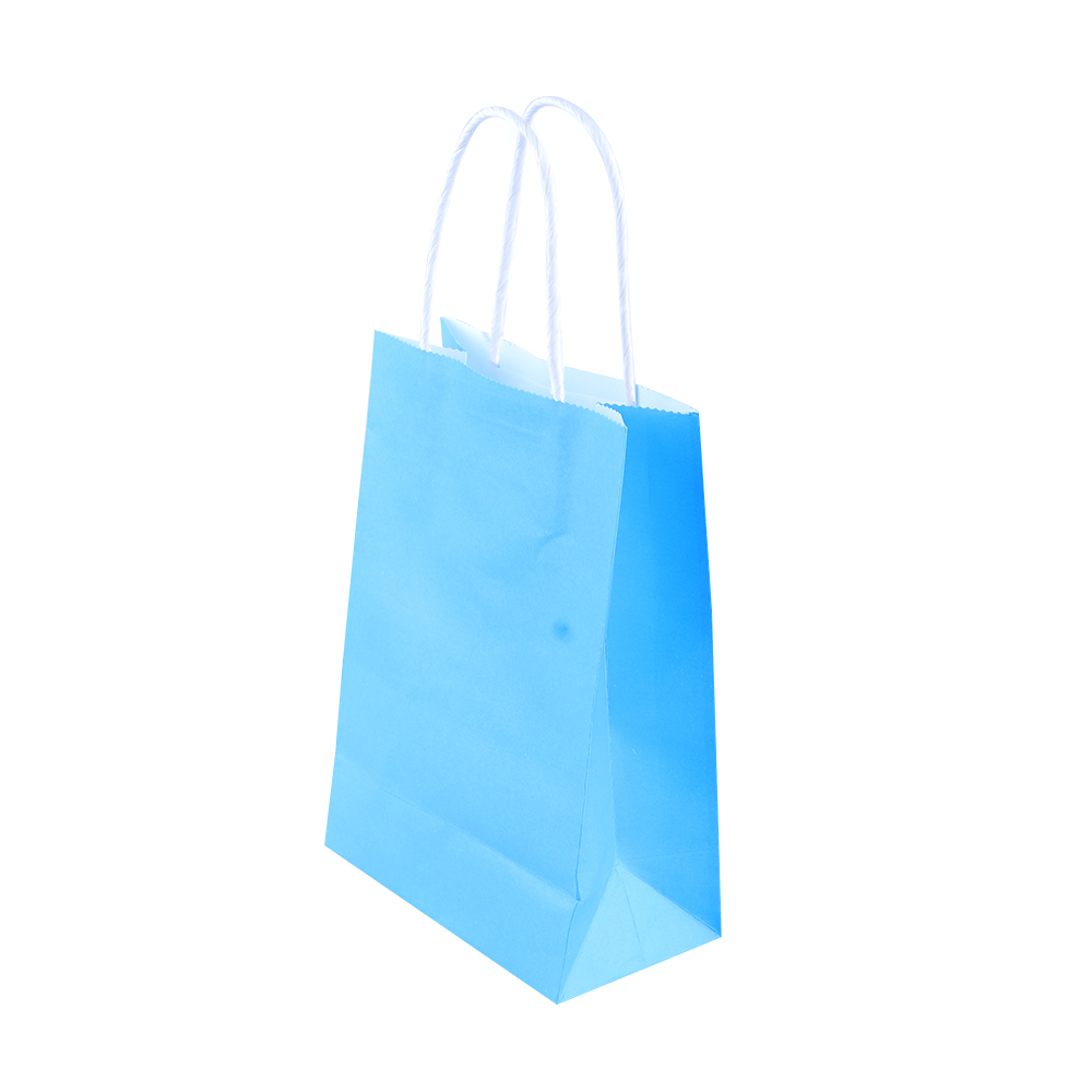 1 pc Party Bags Kraft Paper Gift Bag With Handles Recyclable Shop ...