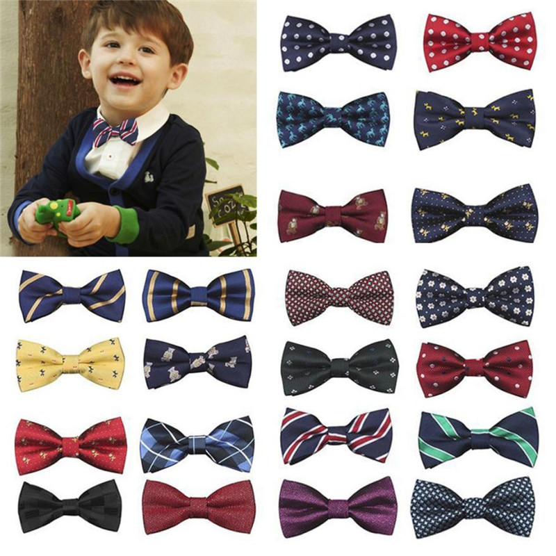 MUQGEW New School Boys Kids Children gentle Baby Bow Tie Adjustable length Wedding Striped Colour Tie Necktie headband все цены