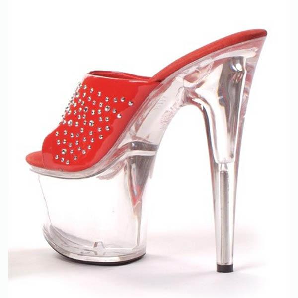 rouge Mariage Super Partie Chaussures Cm Pole formes modèle 17 Pantoufles Dance Noir étoiles Sexy Heel performance High chaussures Plates De wAHFq