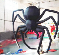Free Shipping 2 4m High Hot Sale Hanging Inflatable Spider Model For Halloween Decoration
