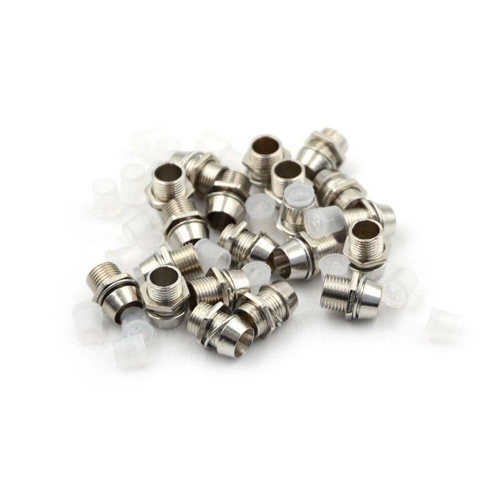 20pcs/pack LED Holders Copper 5mm Light Emitting Diode LED Holder Mount Panel Display Thread Mount Holder Size 8mm
