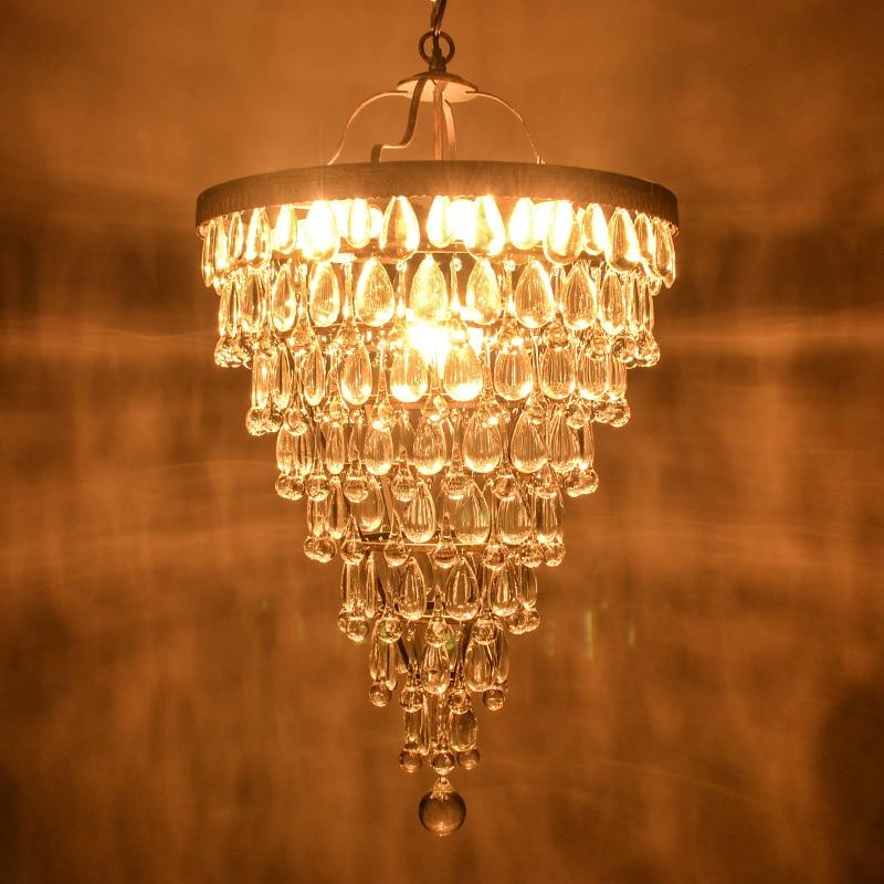 New Design AmericanEuropean Retro Crystal Drops Chandeliers For Living Room Dining Bed Hallway Corridor