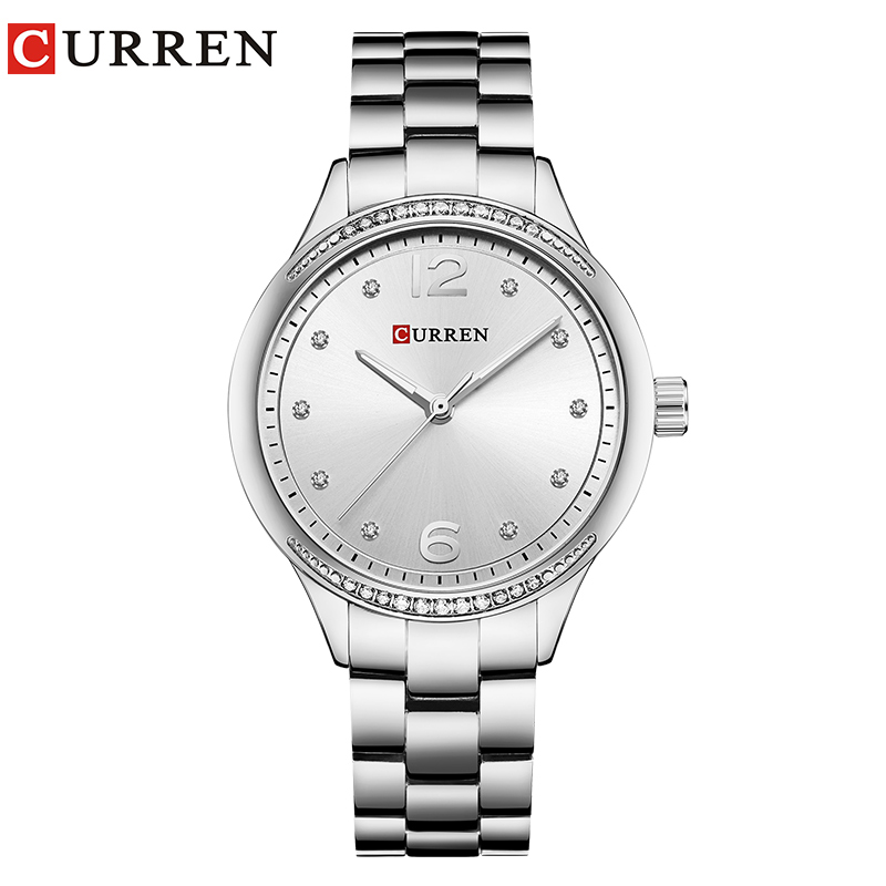 CURREN 2018 Women watches New luxury Casual Alloy Quartz Wristwatch Steel Band ladies Clock Crystals Gifts relogios feminino 5