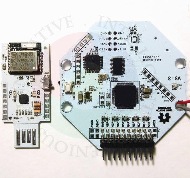 OpenBCI V3 8bit de fuente abierta EEG cerebro onda Módulo 8 canal oficial versión inalámbrica WIFI connect