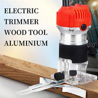 220V 800W 30000RPM Electric Hand Router Trimmer Wood 6.35mm 0.25 Inch Electric Trimmer Router Joiners Power Tools For Woodwork