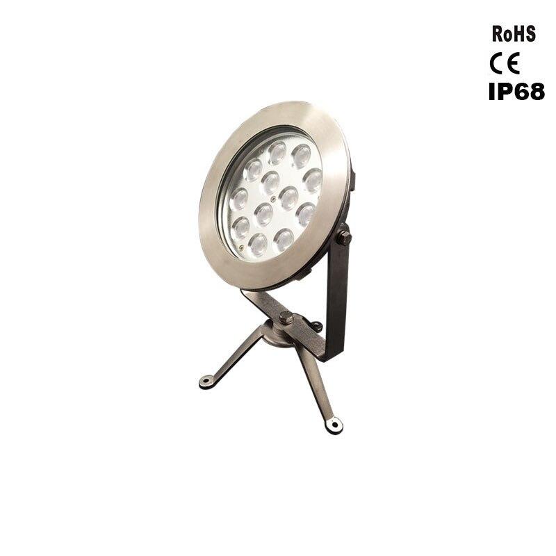 12-24 W Led Ultra Lumineux Rotatif En-Lumière au sol En Acier Inoxydable Lumière Sous-Marine Moderne IP68 Étanche En Plein Air enterré Lampe Pa
