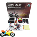 125dB 2 Way Motorcycle Vibration Buzzer Alarm Remote Control Scooter Bike Anti-theft System Arming Disarming Engine Start
