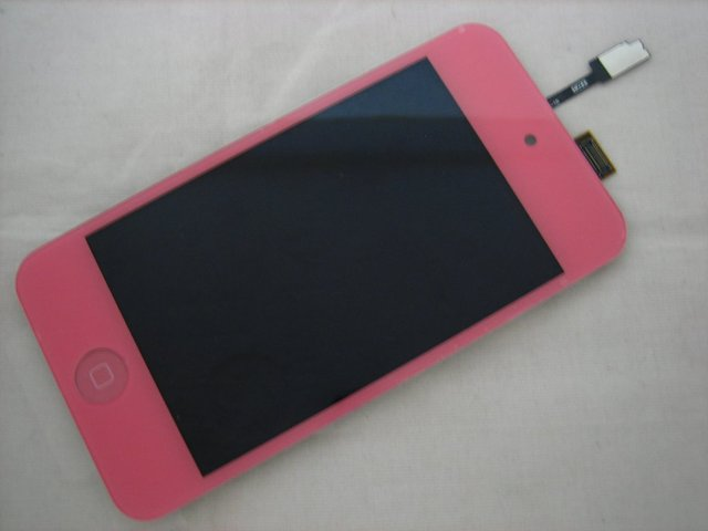 Replacement Full Front LCD Display + Touch Screen For iPod Touch 4 Pink