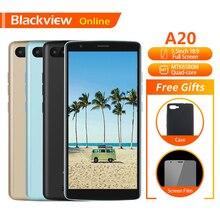 Blackview Оригинал A20 Мобильный телефон 5,5 «1 GB + 8 GB MTK6580M четырехъядерный Android GO 18:9 полный Экран Dual SIM моды тонкий для смартфона