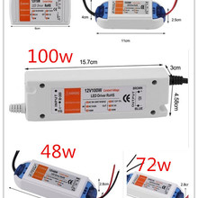 3 года гарантии Хорошее качество компактный светодиодный трансформатор постоянного тока 12В 18 Вт-100 Вт