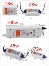 3 yıl garanti yeni kaliteli kompakt LED sürücü güç kaynağı trafo DC12V 18W 100W