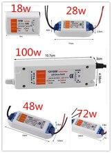 Transformateur dalimentation LED Compact, pilote de bonne qualité, 3 ans de garantie, 12v dc 18W 100W