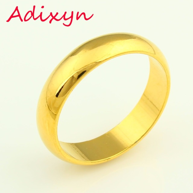 ethiopian gold ring for men women girls gift gold color wide 5mm classic wedding bands - Men And Women Wedding Rings