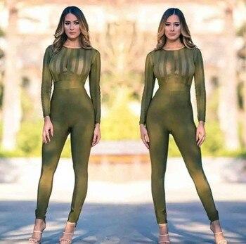 Fashion Striped Patchwork Bodysuits Crop Top Women Mesh Bodysuits Summer New Design Celebrity Party Club Full Length Vestido