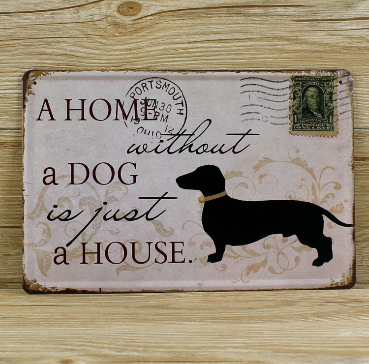 New Arrival About Dog Metal Tin Signs Malt Vintage Home Decor Wall Art Craft Decorative Plaques