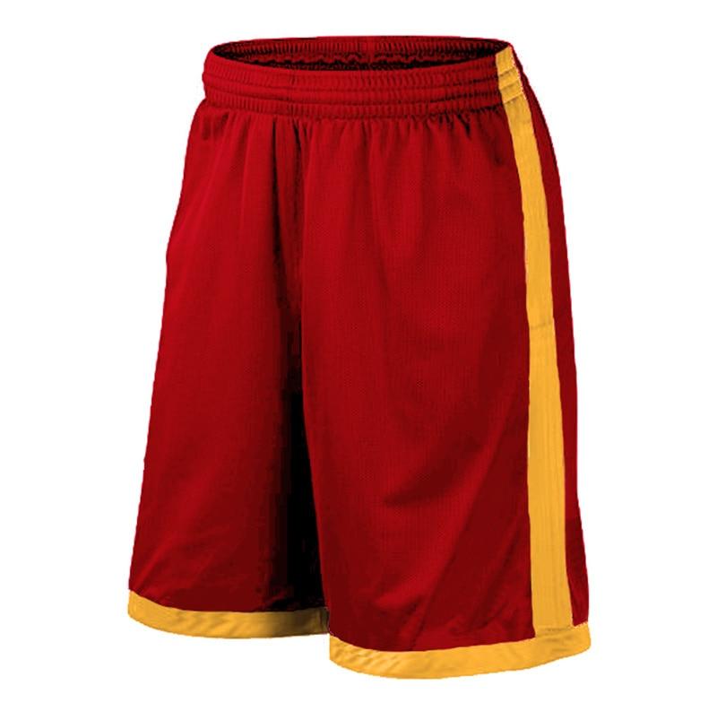 Баскетбольные шорты размера плюс, мужские спортивные шорты, мужские быстросохнущие баскетбольные шорты с карманами, баскетбольная майка высокого качества - Цвет: Red orange