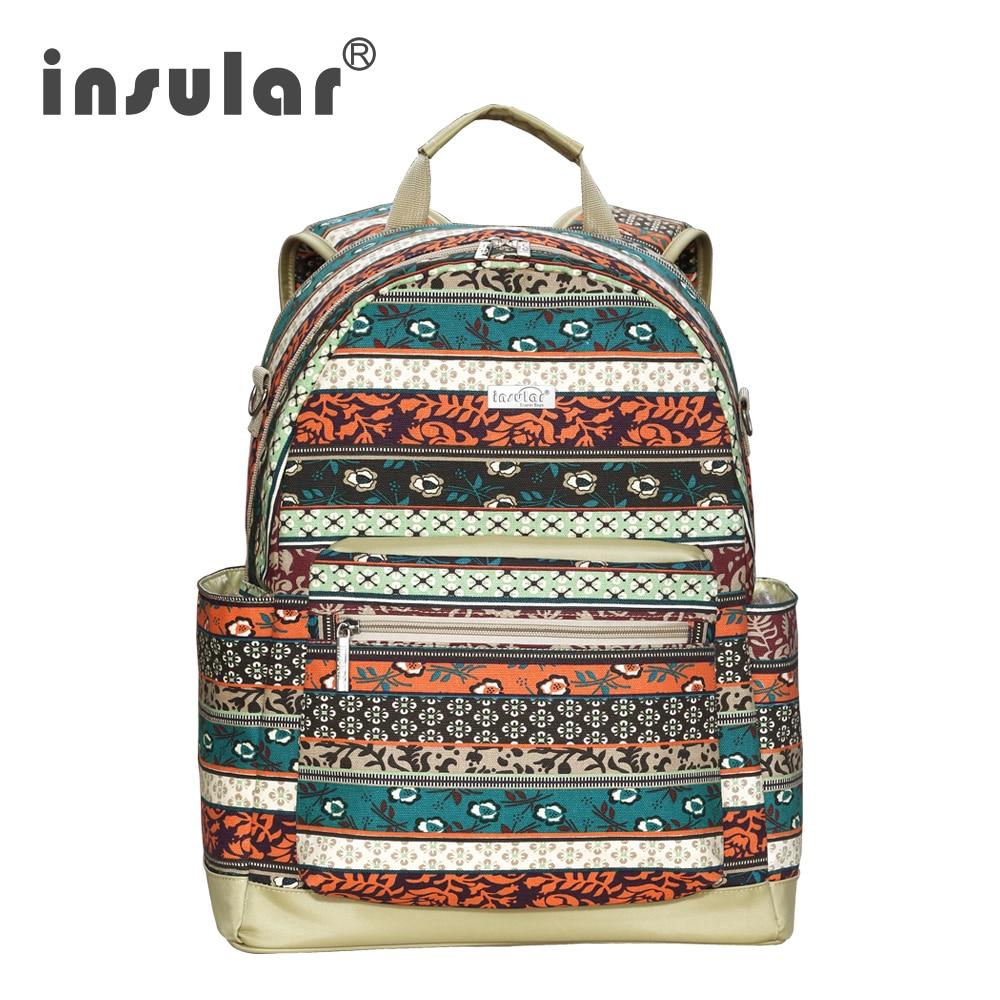 Островная хлопковое полотно Детские Пеленки сумки мама сумка Детские рюкзак Diaper Backpack многофункциональный для беременных рюкзак для детски...