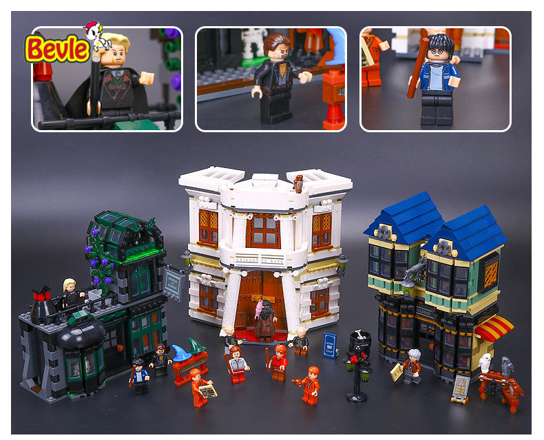 ФОТО LEPIN 16012 Harry Potter Magic Word Diagon Alley Model Building Kit Block 2025Pcs Bricks Compatible With LEPINd 10217