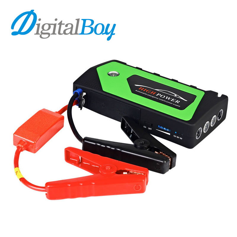 Car Jump Starter 12V Petrol Car-Stlying Starting Charger Car Battery Booster Auto Emergency Mobile Device Power Bank 18000mAh practical 89800mah 12v 4usb car battery charger starting car jump starter booster power bank tool kit for auto starting device