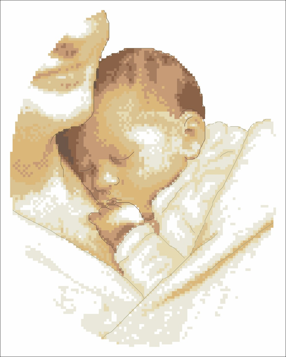 Little Angel Cross Stitch Package Mother Son Children 18ct 14ct 11ct Cloth Cotton Thread Embroidery DIY Handmade Needlework