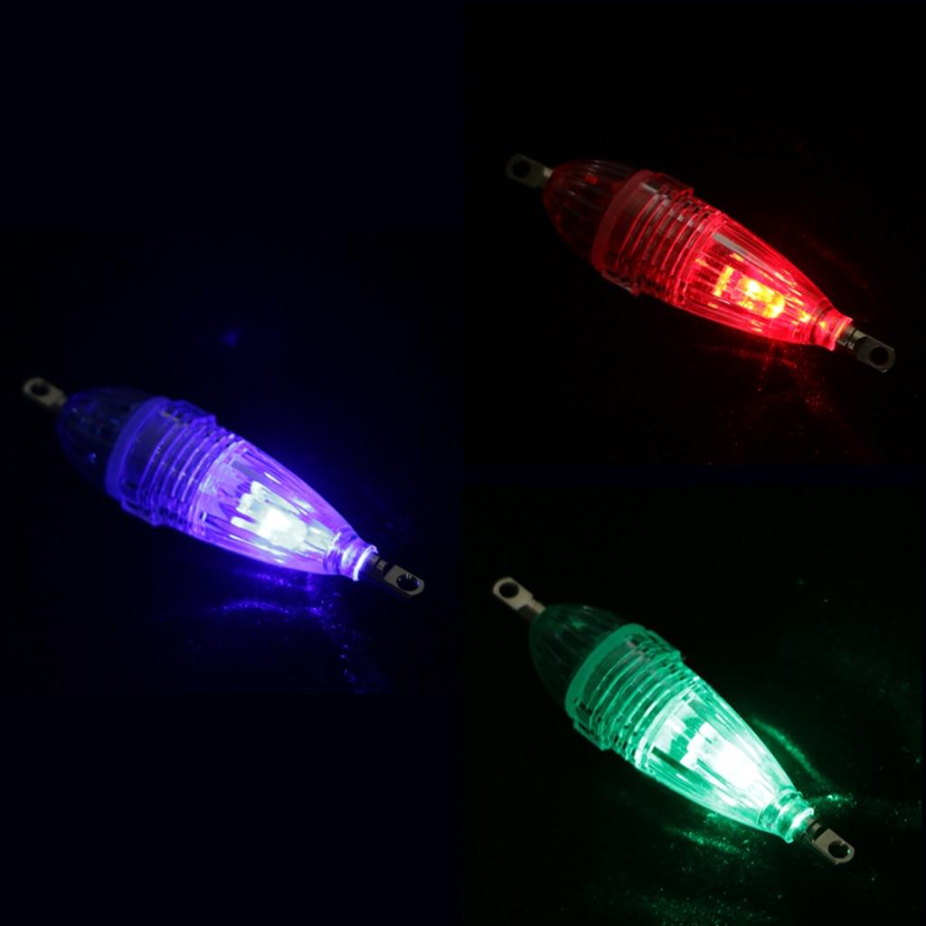 3Pcs Underwater LED Fishing Light Deep Drop Lights Fish Attractant 3 Colors