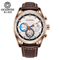 2016 Limited Ochstin Luxury Brand Military Watches Men Quartz Analog Leather Clock Man Sports Army Watch Relogios Masculino
