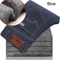 Top Quality Men's Winter Thick Fleece Denim Jeans Mens Fasion Casual Warm Overalls Trousers Wool Pants homme men Classic jeans